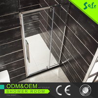 Frameless frame glass pivot hinge shower door, shower enclosure room