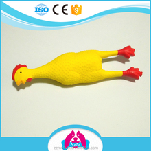 Non-toxic Natural Latex Cartoon Yellow Chicken Squeaky Dog Toys Pet Products