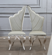 Sliver stainless steel couple Dining Chair