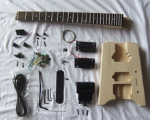 WT1unfinished kit Basswood Body Maple Neck high quality DIY headless electric Guitar Kit