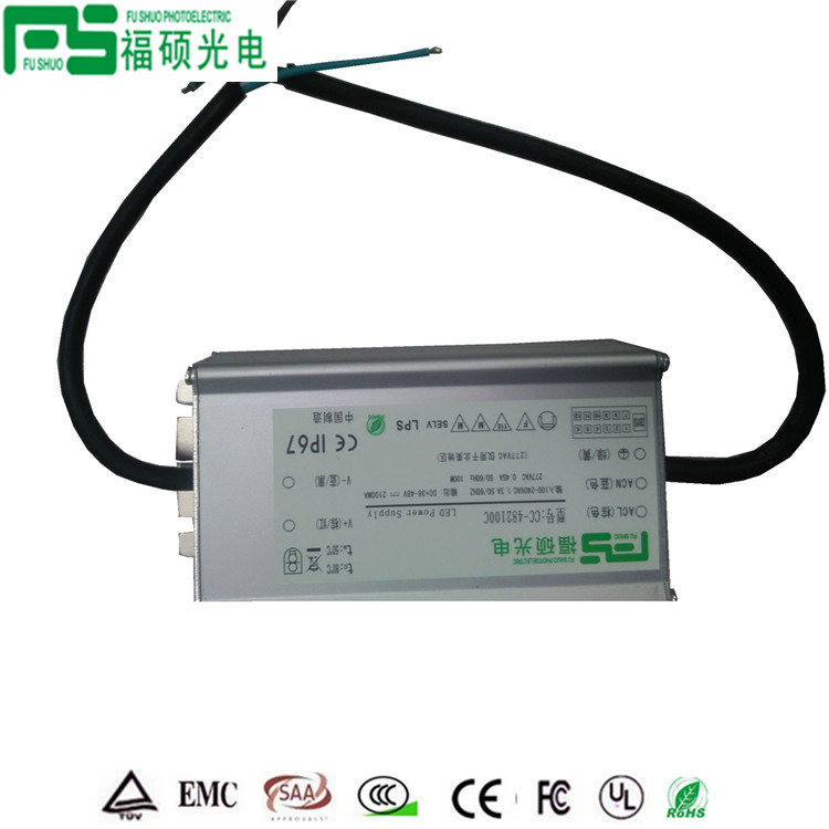 12-60V without strobe constant current waterproof power supply for street light flood light