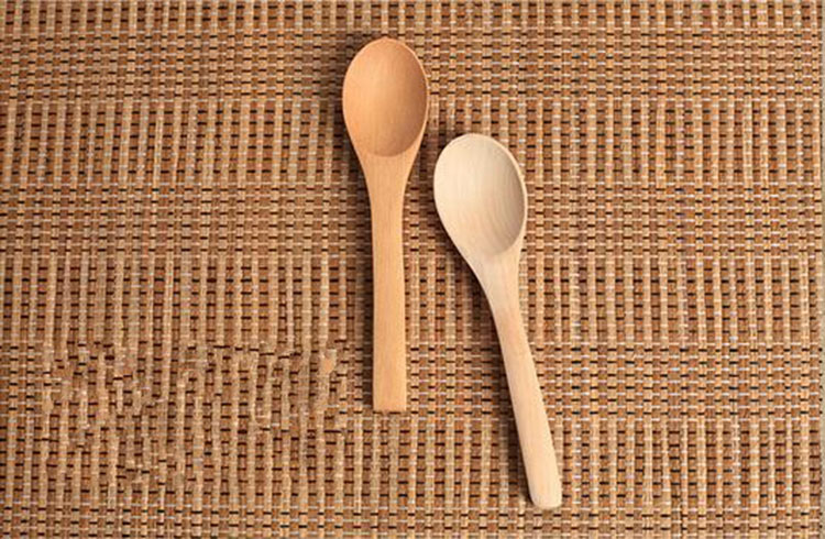 Natural Honey Salt Coffee Mini Child Wooden Spoon