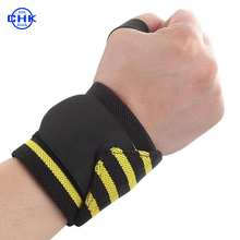 Top quality high elastic thumb support wrist bracer band wraps for weight lifting sports
