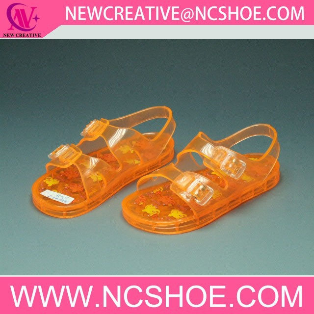 flat pvc crystal jelly sandals womens