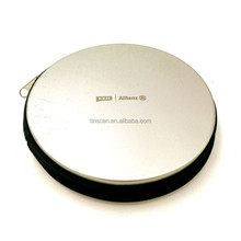 Round tin CD storage case with sleeves
