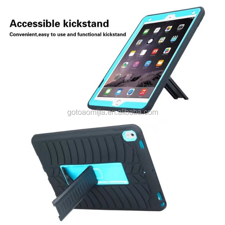 2017 New popular tablet computer unbreakable covers case with kickstand 3 in 1 Shockproof For iPad Pro 10.5 inch