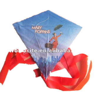 Octopus cartoon diamond kite for promotion