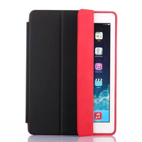 Fold Three Stand For ipad 6 Pu Case, Flip Leather Case For ipad Air 2