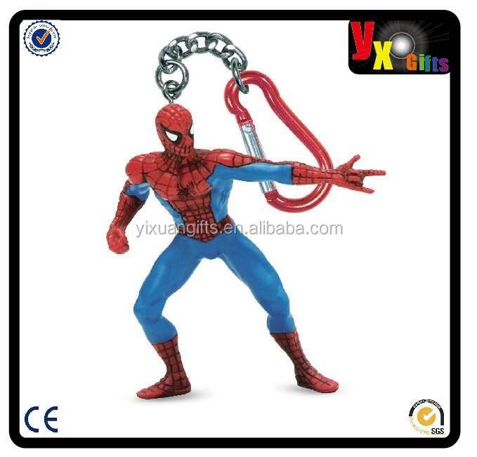 Spider-Man Keyring Party Accessory/stainless steel safety snap hook