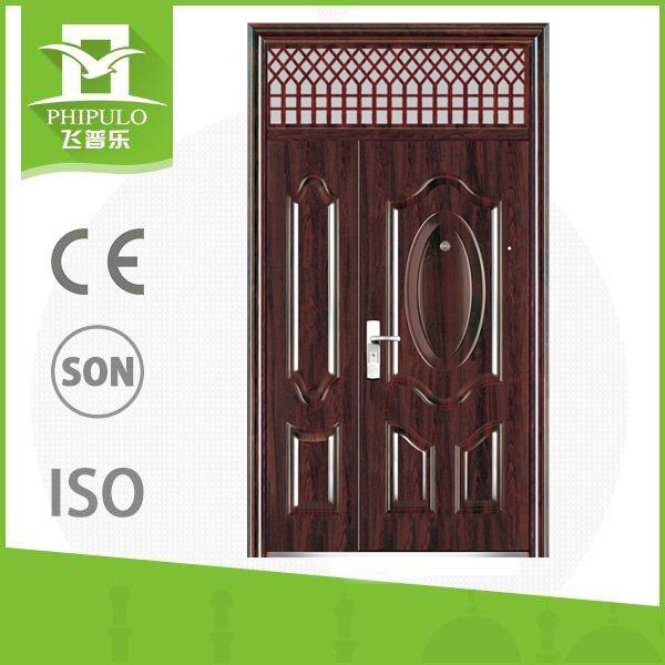 mother and son entrance steel door and window insert