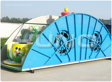 Portable carnival game trailer mounted amusement park cup rides for sale