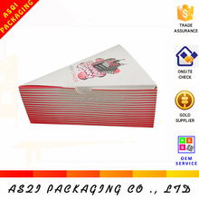 China factory hot sale new design slice pizza paper triangle box packaging