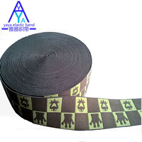 Jacquard knitted elastic band for boxer