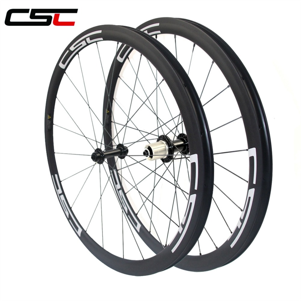 <strong>U</strong> Shape 25mm Width 38mm Clincher Carbon Road Bike Wheelset Racing Bicycle Wheel R13 hub
