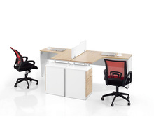 Inexpensive Office Furniture L Shape Wooden Computer Workstation For Staff Table