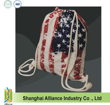National Day Country Flag---Promotion Gift Items--Canvas Cotton Drawstring Bag