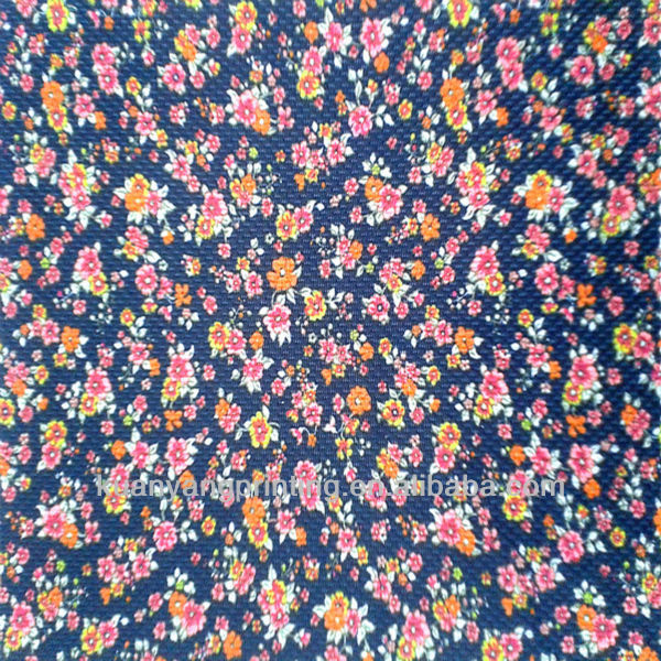 DTY Mesh material poly print knitted fabric textile lining