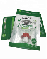 Resealable 3-Side Sealed Ziplock Plastic Packaging Bag for Dog Treats
