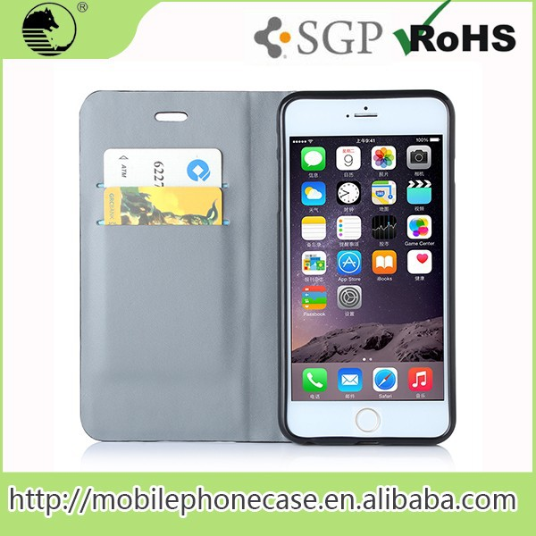 New 2016 High Quality Pu Flip Cover Case For iPhone 6 plus
