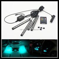 Car remote music voice Control Decorative LED Atmosphere Neon Light RGB Car Interior Footwell Light