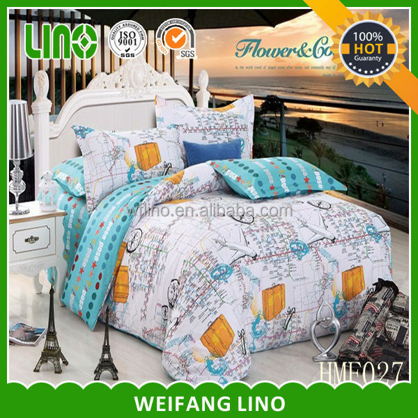 2014 new product home textile cotton printed bed sheet 3d