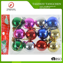 12PCS/SET High quality Christmas Balls Baubles Tree Hanging Decoration/ Xmas Door Ornaments