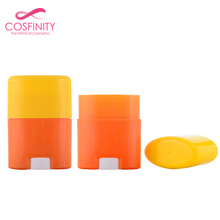 15G PP AS plastic flat twist up deodorant stick packaging empty deodorant stick bottle