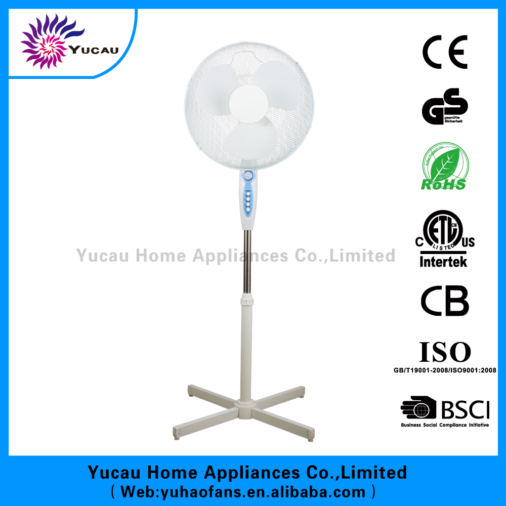 buying 16 inch cross base standing fans CE GS RoHS approval with timer mesh grille