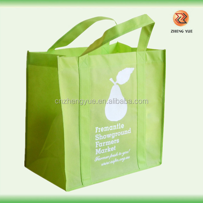 high quality customized eco non woven bag with cross stitching handle