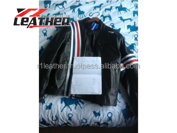 mens custom made motorcycle genuine leather jacket/unique design genuine leather jacket men/manufacturing cost lower than chin