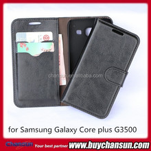 2014 Phone leather case for Samsung Galaxy Core plus g3500