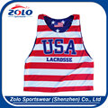 custom design team man reversible sublimation lacrosse Tank Tops
