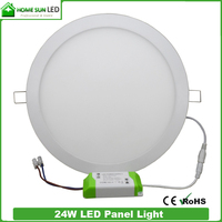 Living roon design lights leds cut out hole 280mm 120SMD2835 epistar 24 watt round led panel light