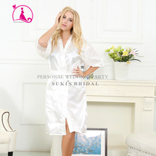 Supercart Sexy Woman Silk Strappy Sleepwear Long Bath Robes Night Gown Pajamas