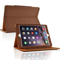 Tan Leather Case Cover For Ipad Air 2