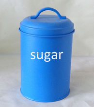 Matt Blue sugar and flour canisters