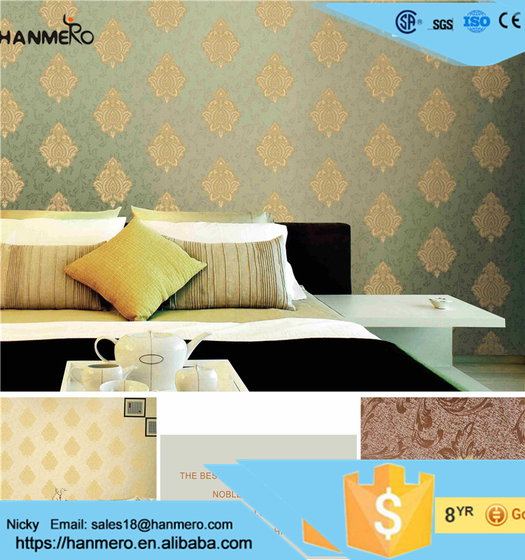 New design floral 3d wall paper for the house decoration