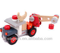 new style wooden toy car/DIY fire truck