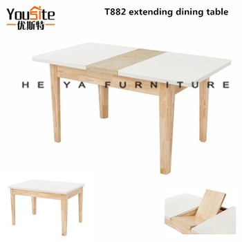 Solid Wood Dining Table Natural Color Extending Table View Extendable Glass Dining Table Yousite Product Details From Foshan Heya Furniture Co