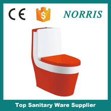 Chaozhou ceramic bathroom siphonic colored one piece toilet