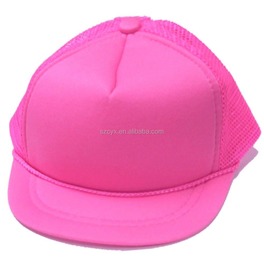 Baby Infant New born Neon 45cm Blank Mesh Trucker Hat Cap