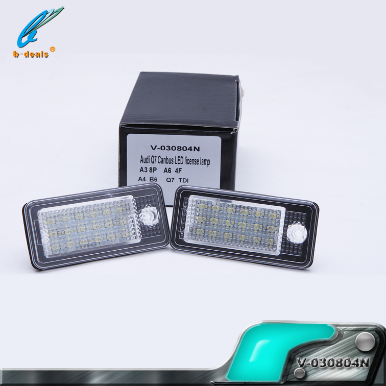 A3 S3 A4 B6 B7 A6 S6 canbus led license plate number light Aaudi Q7 canbus LED License Lamp