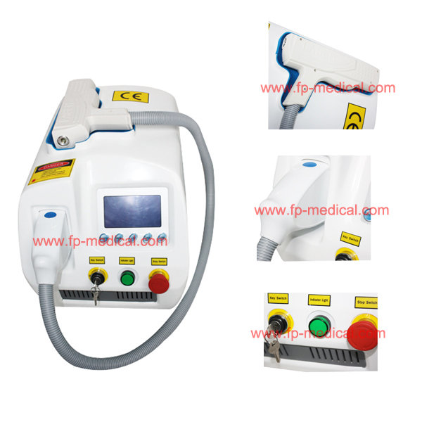 Manufacturer mediacal CE q switched nd yag laser/eyebrows/age spot removal