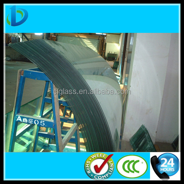 6mm tempered Bent glass factory