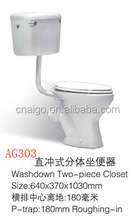 Hot sale wc sanitary wares two piece african toilet in taizhou AIGO company
