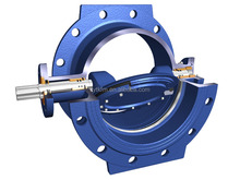 Worm gearbox operated metal sealing long stem butterfly valve dn250