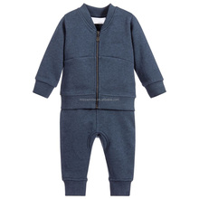 kids boy winter clothing sets pure pattern cotton fabric casual style children clothing manufacturers China
