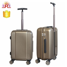 High class ABS travel trolley luggage bag with single trolley