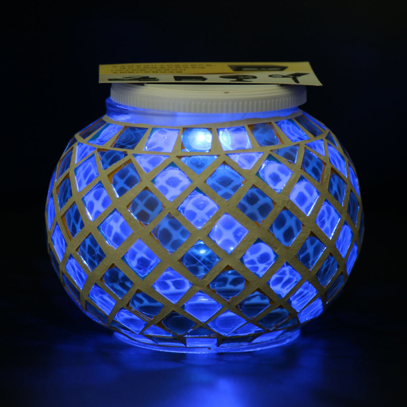 Color Changing Solar Powered Glass Ball Led Garden Lights
