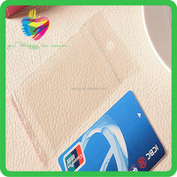 2015 yiwu China clear popular plastic credit card sleeves